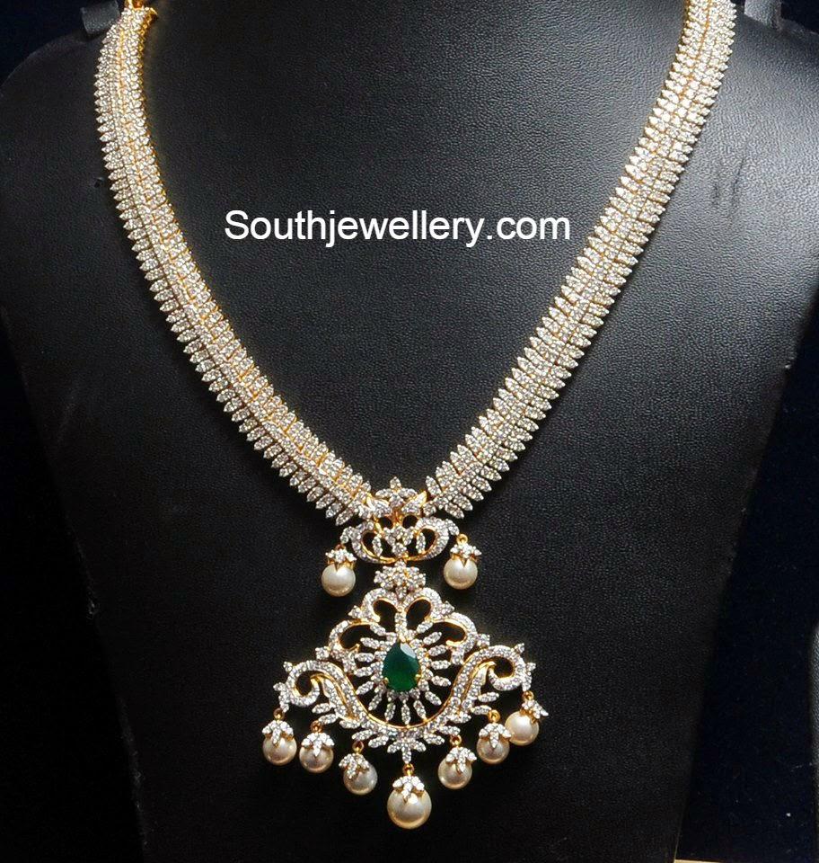 Diamond South Indian Jewellery: Jewellery Designs